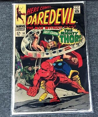 Daredevil 30 Vs Mr. Hyde And Cobra 1967 Thor Appearance Silver Age Marvel