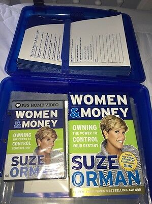 Suze Orman's Ultimate Protection Portfolio Blue Case Personal Record Women Money