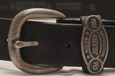 Vintage Belt and Buckle Brown Leather Small size 94cm made in Australia FB0443