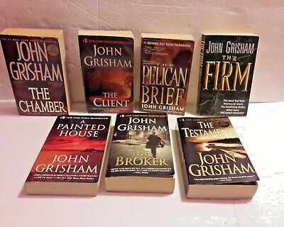LOT OF 7 John Grisham Paperback BOOKS Good condition
