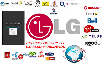 LG Unlock Code for All kind of LG Phone Model Locked to any Carrier Worldwide