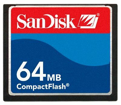 New SanDisk 64MB CompactFlash I CF Card with Free Card Case High Quality