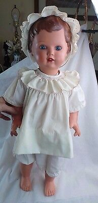 """Vintage Schildrot Celluloid Cry Baby Doll Tall 26"""""""