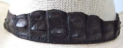 Genuine Crocodile Front  leather hat band Bonded Leather Sides  Dundee outback