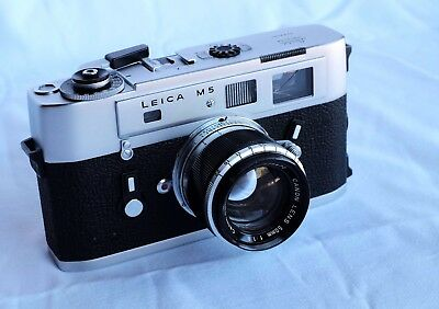 Leica M5 35mm Film Rangefinder camera with Canon 50mm f1.8 Lens