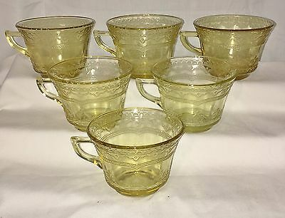 6 Federal PATRICIAN AMBER *CUPS*