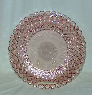 """Anchor Hocking WATERFORD/WAFFLE PINK *13 3/4"""" SANDWICH PLATE* #2"""