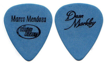 THIN LIZZY Tour Guitar Pick : Marco Mendoza blue Dean Markley Ted Nugent