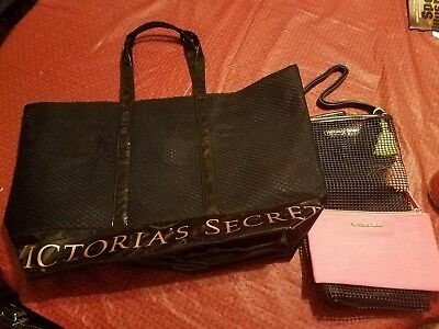 Victoria Secret large and small tote lot of three flawless condition