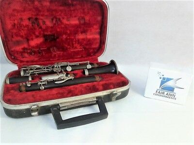 Vintage Evette By Buffet Crampon Wood Clarinet Serial # D1293 - Made in France