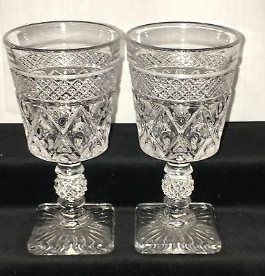 """2 Imperial CAPE COD CRYSTAL* 5 1/4"""" - 5 oz *WINE GOBLETS*"""