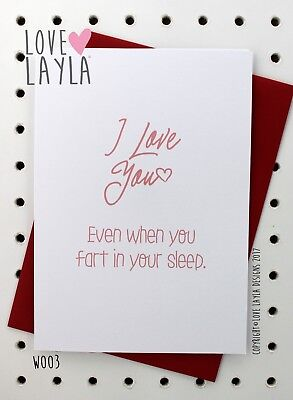 Greetings Card Christmas Card / Comedy / Funny / Humour / Love Layla Aust / X03