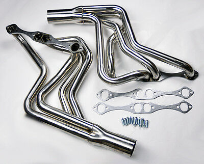 Chevy Small Block V8 262-400 Long Tube Stainless Exhaust Manifold SBC Headers