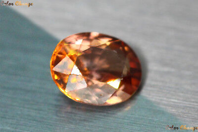 1.060 Ct Rare Natural From Earth Mined *color Change Malaya Garnet* Aaa+ Gem~!!!