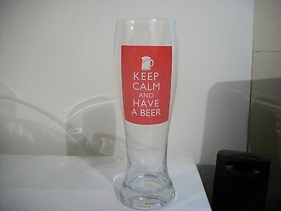 Keep Calm And Have A Beer- Beer Glass