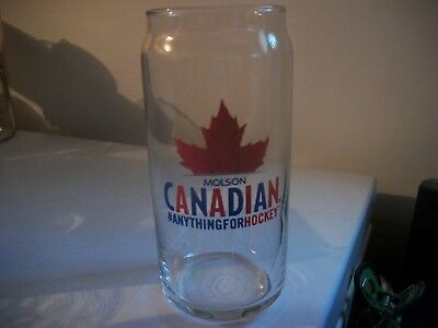 Molson Canadian- '' Anything For Hockey''- Beer Glass