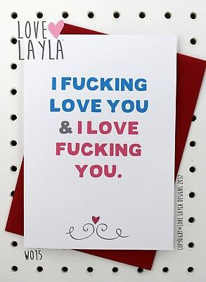 Greetings Card Christmas Card / Comedy / Funny / Humour / Love Layla Aust / X15