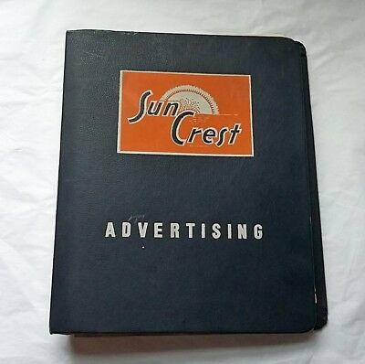 1957-58 Sun Crest Beverages Store Advertising Catalog, Signs, Thermometers
