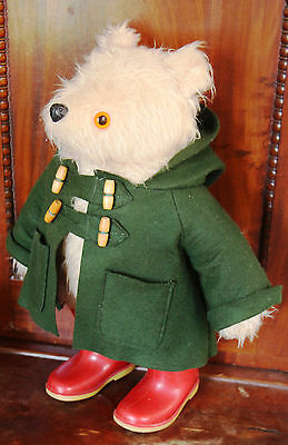 Vintage Gabrielle PADDINGTON BEAR with Green Coat Red Dunlop Boots 19 inches