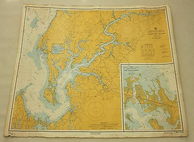 Chester River Chesapeake Bay #548 Vintage Sailing Map C&GS Nautical Chart