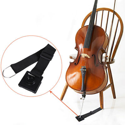 Cello Rock Stop End Pin Stand Holder + Chair Strap Anchor Stopper Tools Black