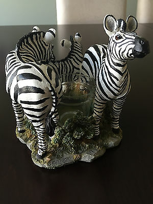 "Candle Holder ""Zebra Garden"" by Innovation"