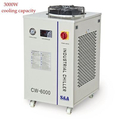 CW-6000 Industrial Water Chiller for 3 x100W or 4 x80W CO2 Glass Laser Tube 110V