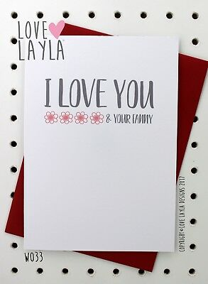 Greetings Card Christmas Card / Comedy / Funny / Humour / Love Layla Aust / X33
