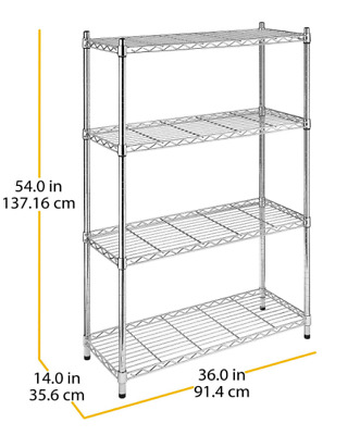 Stainless Steel Shelving Unit Make More Space Kitchen Storage Chrome Wire NEW