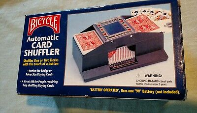 BICYCLE automatic card shuffler for 1 2 decks of bridge or poker cards