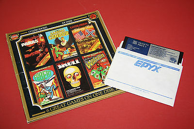 Variety Pack #1 6 Game Disk - Vintage Commodore 64 Video Game Original Software