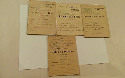 WWII Canadian Soldier's 4 Pay Books. Lewis Wilfred Earl H-59767.