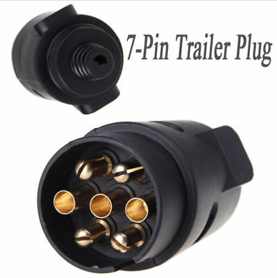 7-Pin Trailer Plug 7-Pole Wiring Connector 12V Towbar Towing Caravan Truck Plug