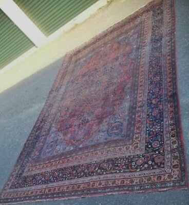 "Antique Beautiful Oriental Wool Rug 9'4"" x 13'2'"