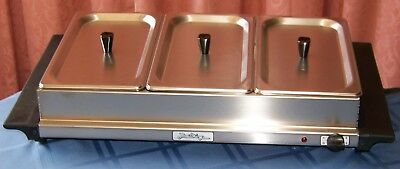 BroilKing Stainless - Steel Triple Buffet Server with Steel Lids
