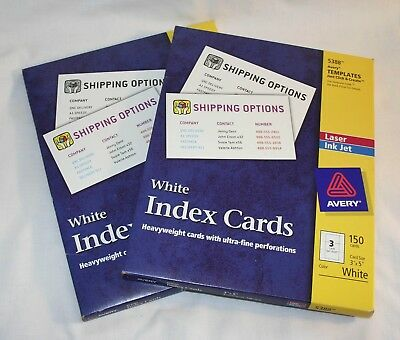 avery 3x5 index cards