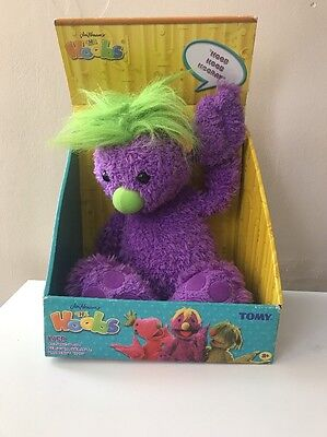 Jim Hensons The Hoobs Iver Talking  Soft Toy Tomy BNIB Plush Teddy