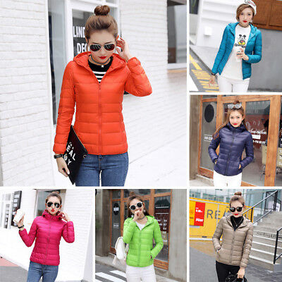 2017 New Women Ultra Light Slim Down Jacket Hooded Winter Warm Duck Down Jackets