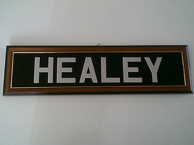 Healey Number Plate (Show Only Framed)