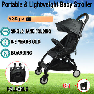 Compact Lightweight Baby Stroller Pram Folding Kids Jogger Travel Carry on Plane