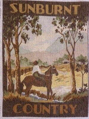 DMC LONG STITCH / TAPESTRY CANVAS SUNBURNT COUNTRY 40 x 30 cm's NO WOOL / COTTON