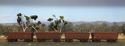 HO Scale BHP Ore Wagons With Iron Ore Loads And Weathering