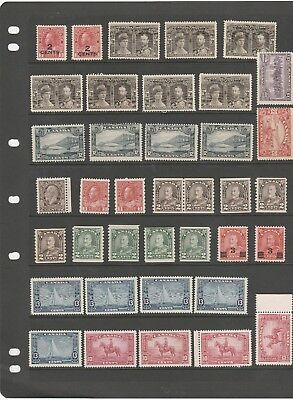 Canada 1908-1935  Just A Lovely Selection Of Kevii-Kgv Mint Stamps