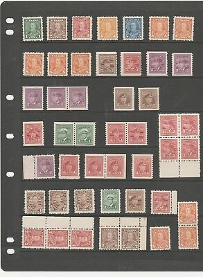 Canada 1935-1948 Kgv-Kgvi  Just A Lovely Selection Of Mnh/mlh Stamps