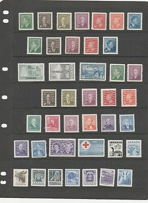 Canada 1949-1957  Kgvi-Qeii  Just A Lovely Selection Of Mnh/mlh Stamps