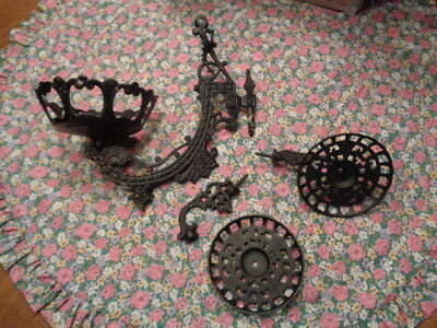 Cast Iron Lamp Holders  One Large Two Small