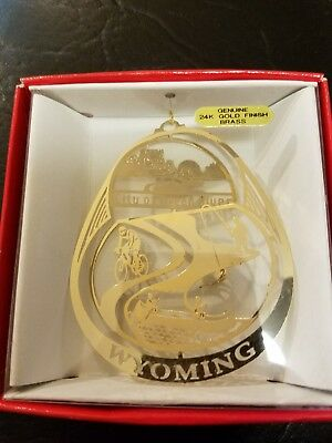 Green River Wyoming   Brass Christmas Ornament