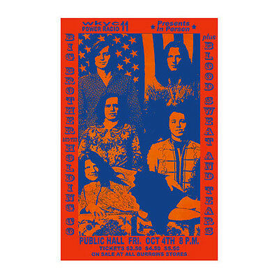 Big Brother / Janis Joplin 1968 Cleveland Concert Poster