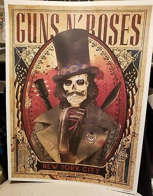 Guns N Roses Madison Square Garden Msg Nyc New York Slash Poster 10/16Rare