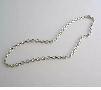 Tiffany & Co Sterling Silver Donut Necklace Chain Link Excellent & Authentic